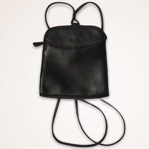 Fossil Black Leather Mini Backpack Purse